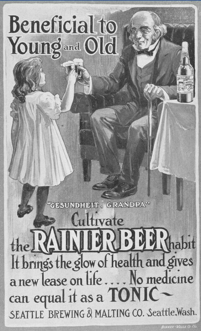 yes, every little girl wants the glow of health by drinking beer before she's 10...ACHH