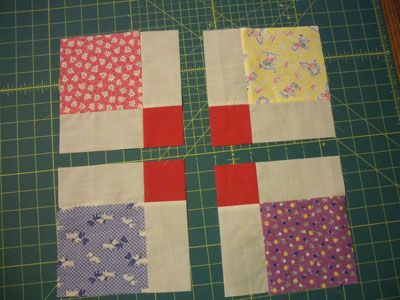 A Disappearing Nine Patch Tutorial - creates sashing and cornerstones