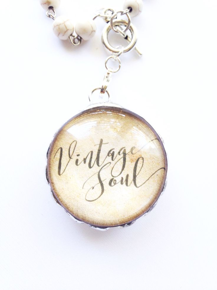 Celebrate your spirit, heart and vintage soul with this beautiful piece of inspirational jewelry. The display is incased between two pieces of high quality glass allowing this pendant to display both