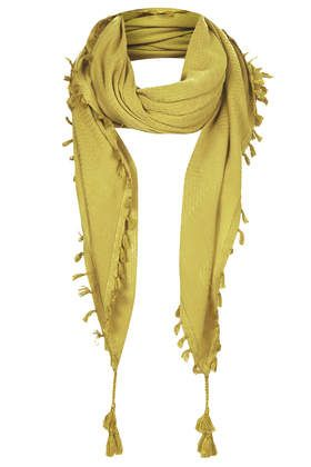 Square Tassle Scarf - Scarves - Bags & Accessories