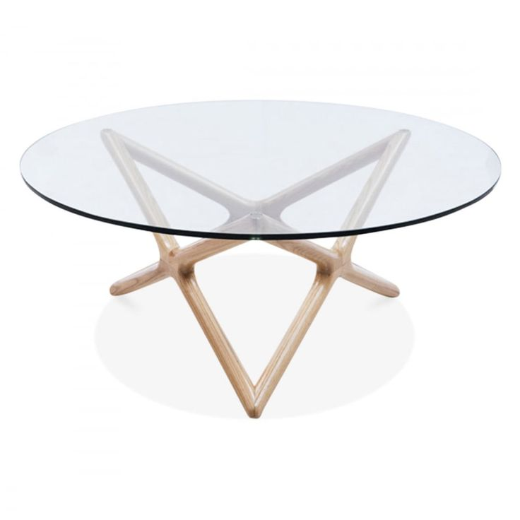 Cult Living Star Glass Top Coffee Table   Natural 100cm