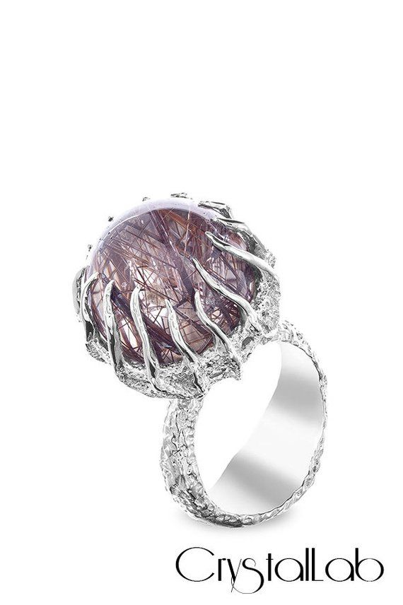 women/'s ring, Birthstone Ring Smoky Quartz Ring US size-8 R-837 Sterling Silver Ring Jewelry ring Handmade Ring love stone Ring