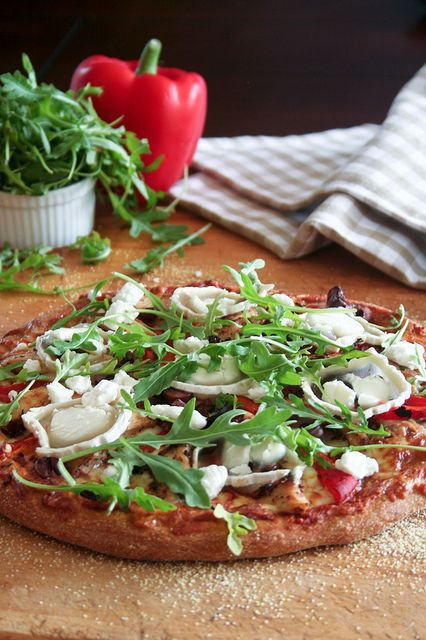 Whole wheat pizza dough: Chicken Goat Cheese, Goats Cheese Pizza, Goat Cheese Pizza, Cheese Pizza 3, Huge Cheese, Cheese Roasted, Cheese Platters, Chicken Goats Cheese, Homemade Pizza