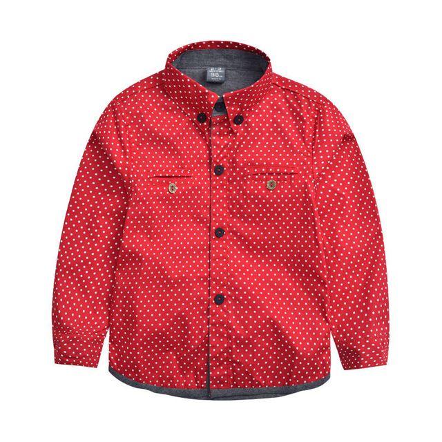 【 $10.00 & Free Shipping 】2016 Boys Autumn Long Sleeves Dot Shirts Kids Print Casual Fashion Brand Cotton | worth buying on AliExpress