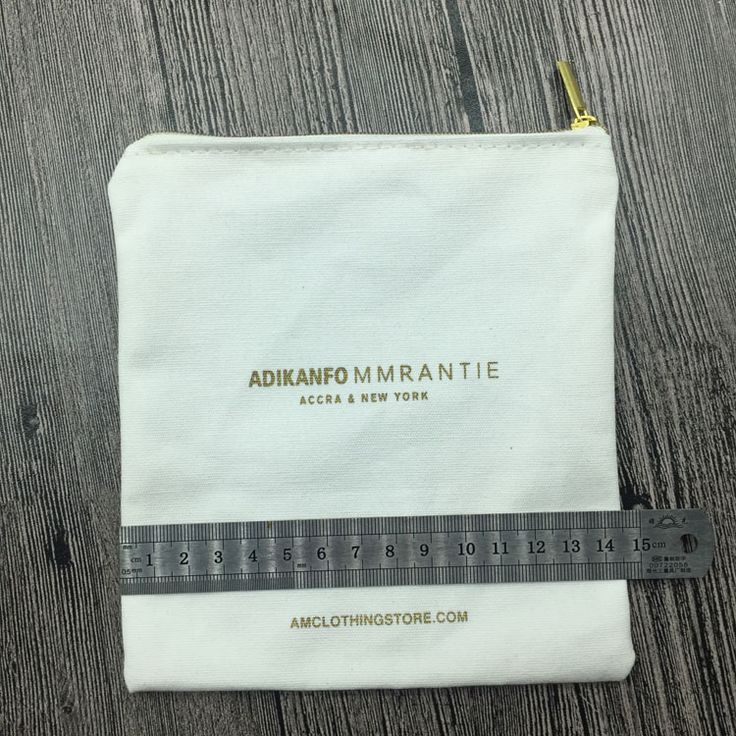 Wholesale Blank Small Canvas Fabric Cotton Zipper Pouch