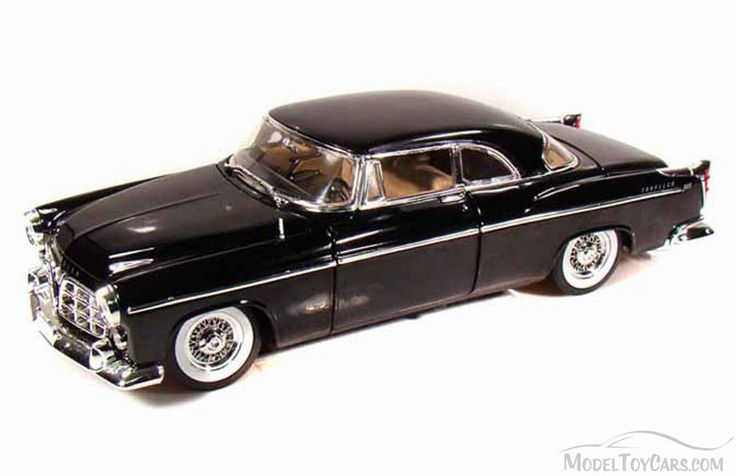 1955 Chrysler C300, Black - Motor Max 73160BK/4 - 1/18 Scale Diecast Model Toy Car