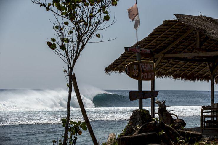 Check out legendary surf spot Desert Point in Lombok.