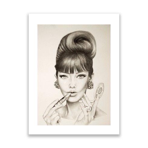 Sixties Girl Print by becbroomhallarts at zippi.co.uk