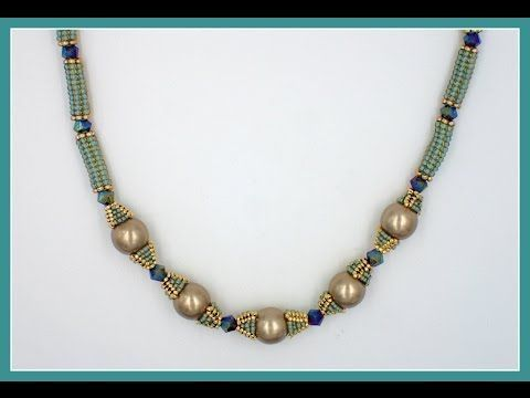 Herringbone Tube Beads (Tube-Tastic Necklace) - YouTube