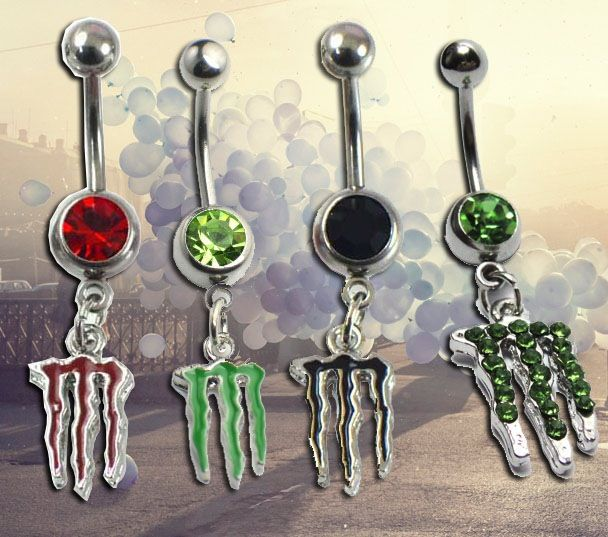 Monster Energy Drink Bellybutton Rings. this is so you Nichole! @Nichole Radman Radman Hosiner