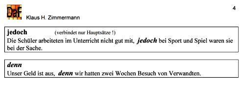 deutsch als fremdsprache daf daz grammatik konjunktionen konjunktionen deutsch als. Black Bedroom Furniture Sets. Home Design Ideas
