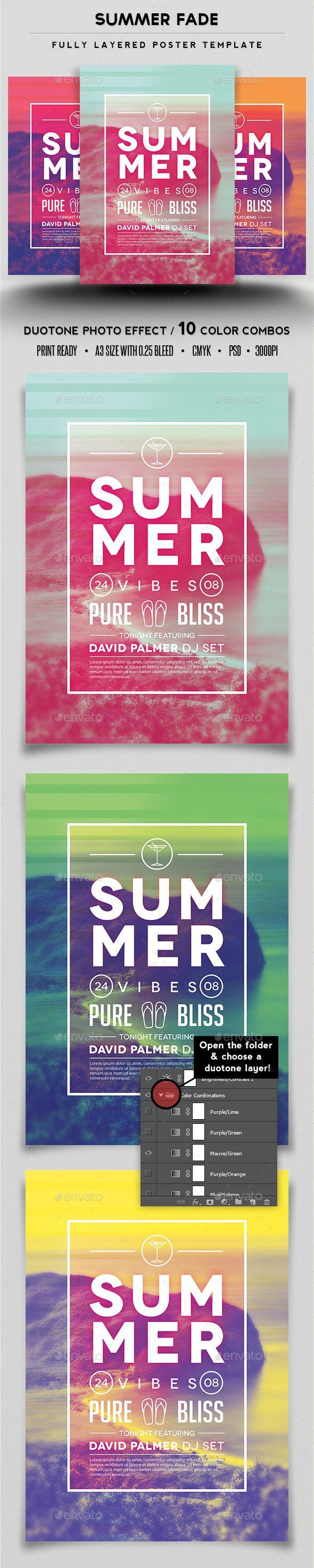 Summer Fade Poster Template #design Download: http://graphicriver.net/item/summer-fade-poster-template/12751977?ref=ksioks