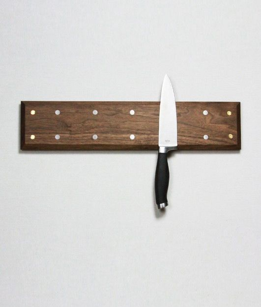 Wood knife magnet. I think I want to make something like this