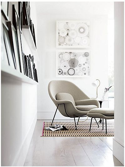 Sit back, relax and read in the Saarinen Womb Chair by Knoll http://www.nest.co.uk/product/knoll-womb-chair-and-ottoman