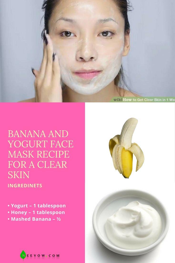 Banana And Yogurt Face Mask Recipe For A Clear Skin  acne treatment ,acne cream, pimple treatment, acne scars, fair skin, fairness tips,beauty tips for fairness,fair skin cream, home remedies for fair skin, beauty tips for fair skin