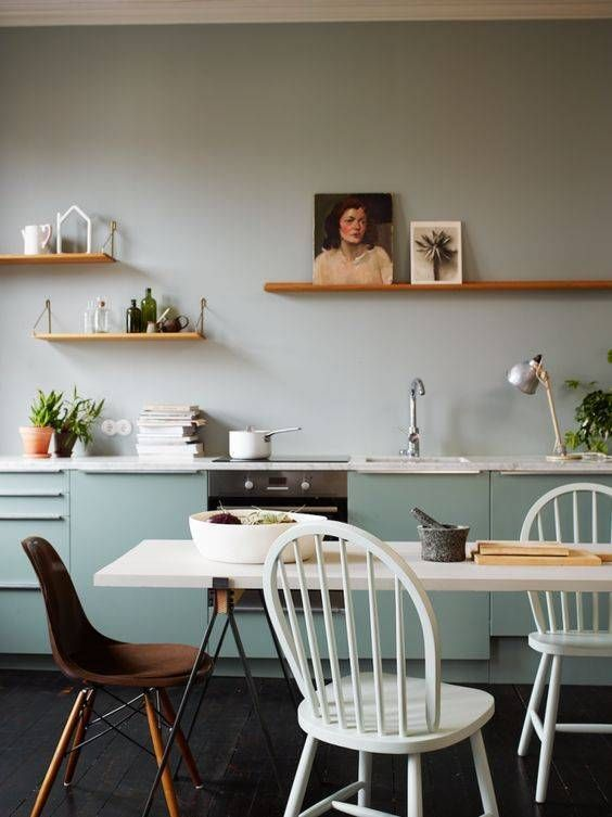 colorblocked kitchen