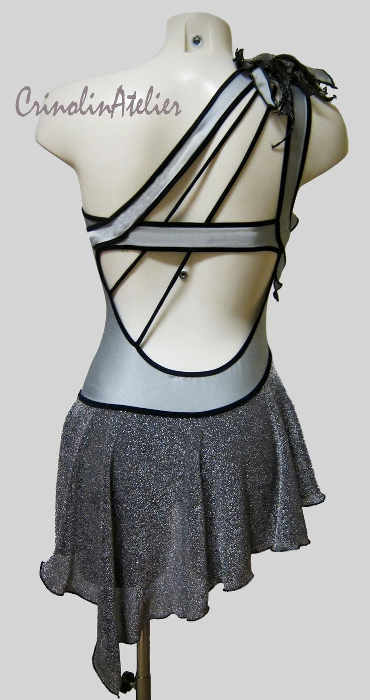 skirt drape...latin dress, salsa dress, dance costume www.crinolinatelier.it