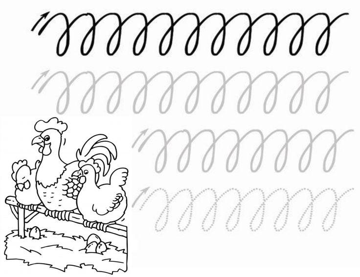 Schrijfpatroon boerderij [123lesidee.nl]