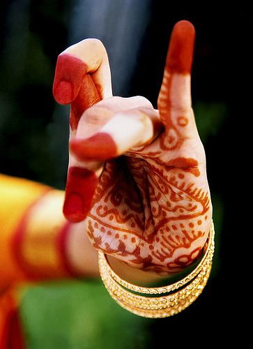 Classical Indian Dancer's, Henna Painted Hand, v3, NNP by N. Nur, via Flickr