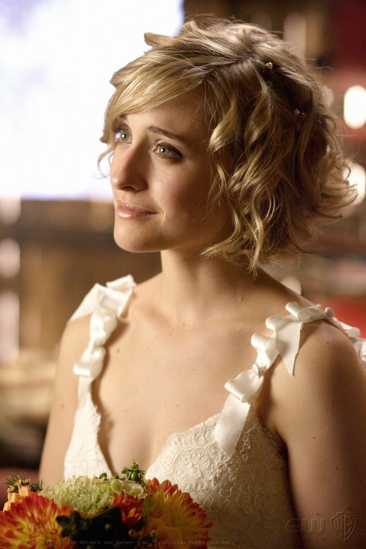 "Inspiration for my hairstyle (Allison Mack, aka Chloe Sullivan from ""Smallville). I'd never gone this short before!"