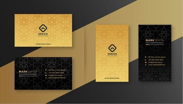 Download Luxury Royal Black And Gold Business Card Design Template For Free Modern Business Cards Gold Business Card Vector Business Card