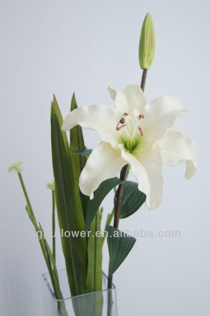 Decorative PU artificial tiger lily flower supplier