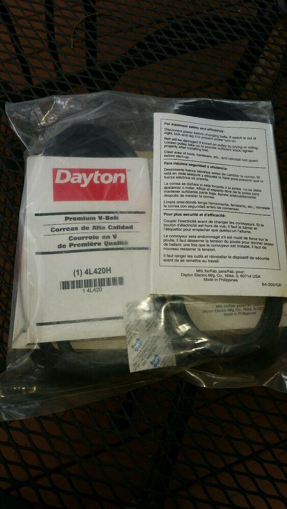 "Dayton Power Transmission 4L420 Premium 1//2/"" x 42/"" V Belt 4L420H"