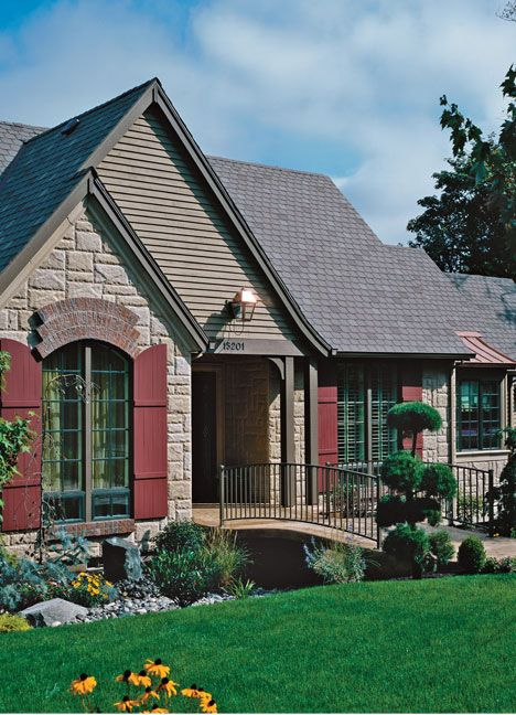 271 best images about brick houses on pinterest brick for Log and brick home
