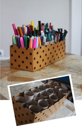 Great organisation for all my pens, markers, and even knitting needles!