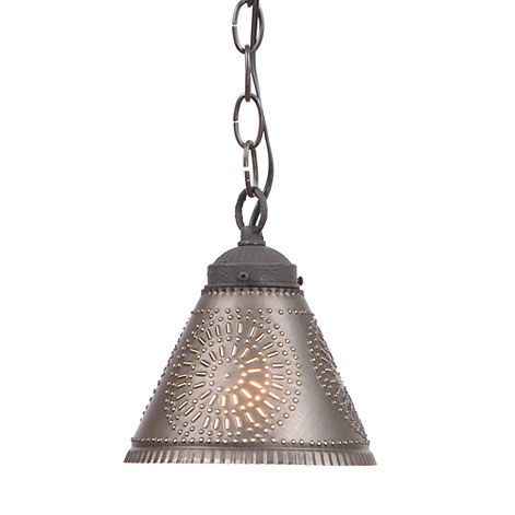 Crestwood shade light is handcrafted in pennsylvania by irvins country tinware comes direct wired with