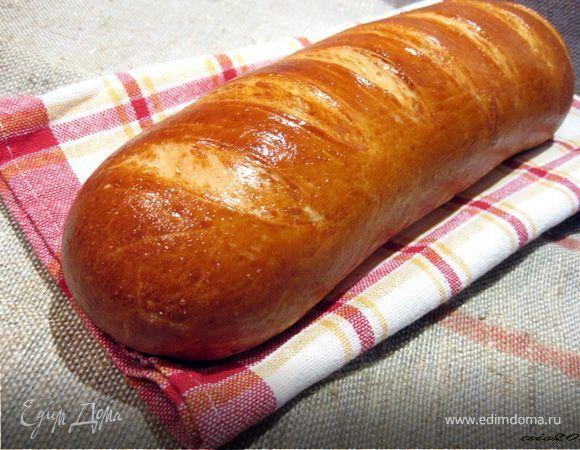 Я очень люблю домашний хлеб и пеку довольно часто. Каждый раз хочется попробовать что-то новенькое. Но есть один, который я пеку постоянно - это батон. Ароматный, румяный и не идет ни в какое сравн...