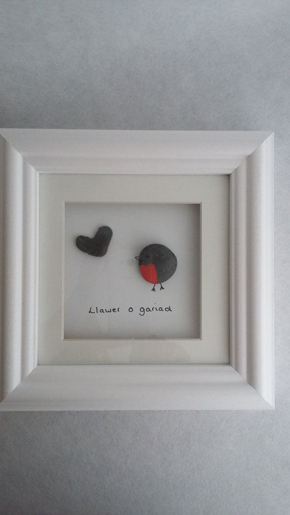 pebble artrobin picture robin pebble art robin wall by MrsBooChic