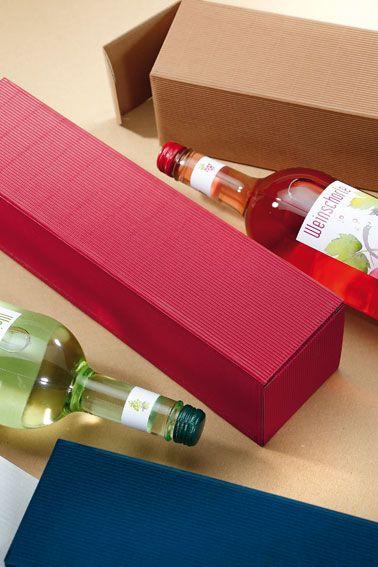 Geschenkverpackungen aus Offener Welle für Wein, Sekt und Spirituosen.