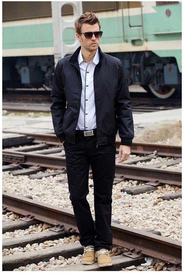 LOMAIYI Fashion Male Jacket Coat Men 2017 Spring Business Casual Clothes Boss Thin Windbreaker Mens Black Bomber Jackets,BM041