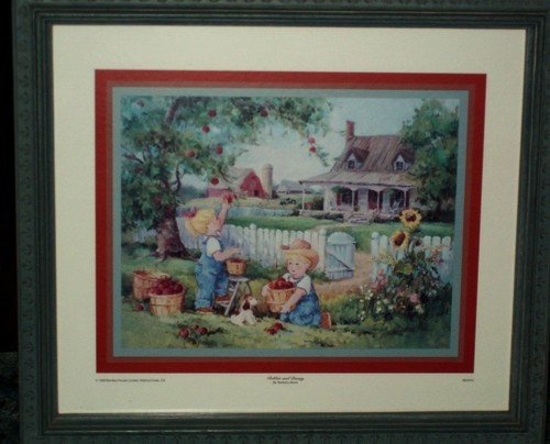 Denim days framed print picture debby and danny picking apples denim days pinterest for Home interiors apple orchard collection