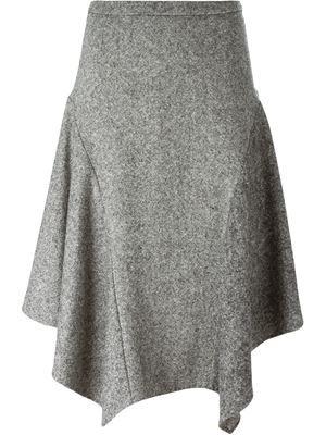 tweed asymmetric skirt …