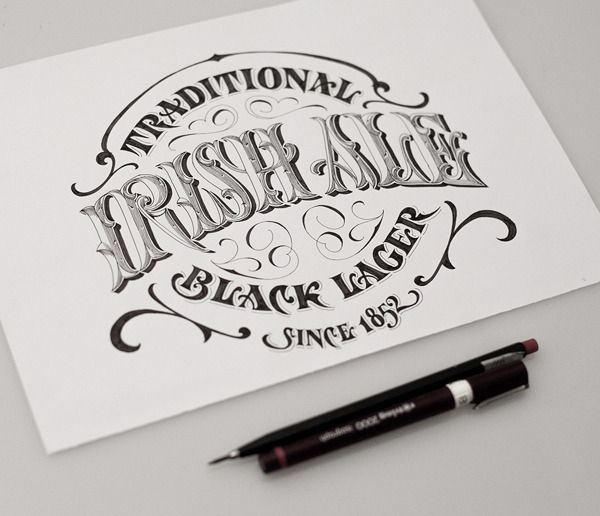 Typography | Traditional Irish Ale Black Lager