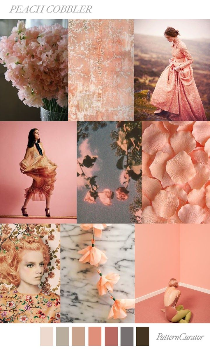 TRENDS // PATTERN CURATOR - PEACH COBBLER . SS 2018