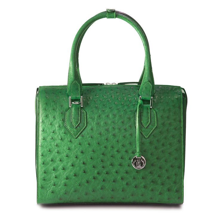 genuine ostrich leather handbag. made in south africa using traditional european methods.