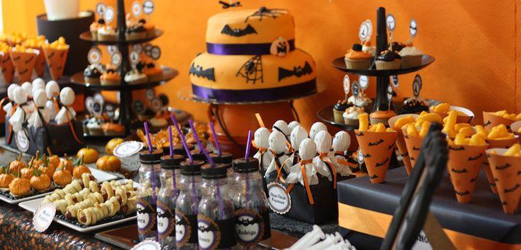 Mesas dulces para la fiesta de Halloween - http://www.decoora.com/mesas-dulces-para-la-fiesta-de-halloween.html