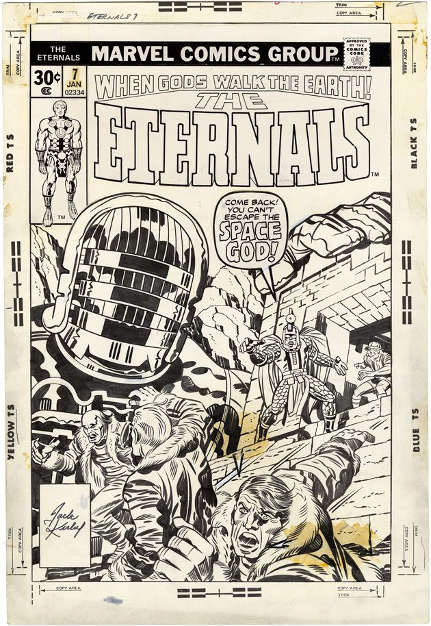 The Eternals, Issue 7, Cover by Jack Kirby