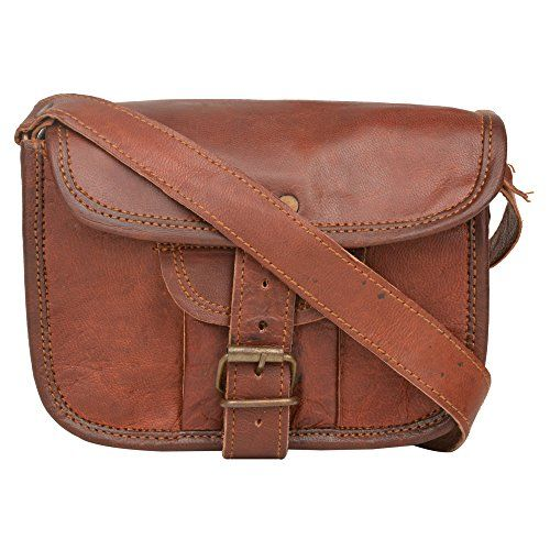 Handcraft Women's Kanudi Leather Small Cross Body Shoulder Everyday Satchel City Party Weekend Festival Bag Onesize Brown