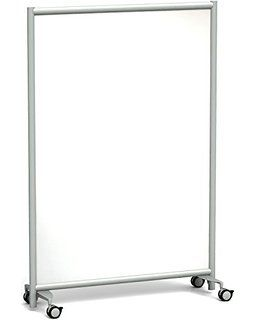 MOI Mobile Office Partition, Whiteboard, 49-Inch Wide x 72-Inch High (MP2X4972)