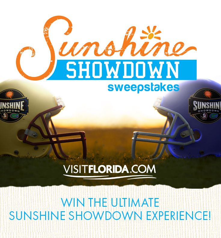 I just entered the Florida's Sunshine Showdown Sweepstakes! Thought you should enter, too!