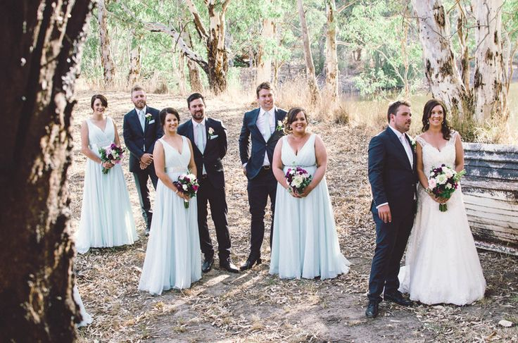 Gorgeous photos by the lake with the bridal party. Photo by Meaghan Coles, Now and Then Photography