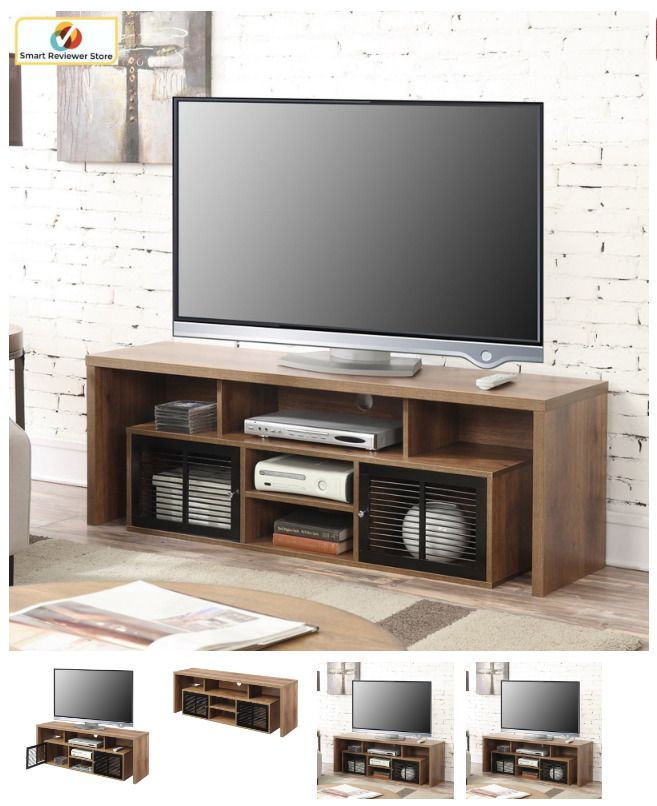60 Inch Tv Stand Media Console Electric Entertainment Center Cabinet New Convenienceconcepts E