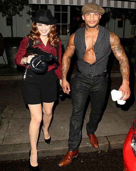 Kelly Brook in Gangster Makeover at Ellen Von Unwerth's 60th Birthday  #bollywood