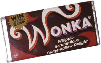 Movie Memorabilia Specialists - The Monster Company - Whipple-Scrumptious Fudgemallow Delight Wonka Bar Screen Used Movie Prop From Charlie And The Chocolate Factory