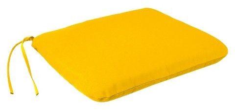Household Essentials Jordan Manufacturing Jordan Square Dining Seat Pad - Yellow