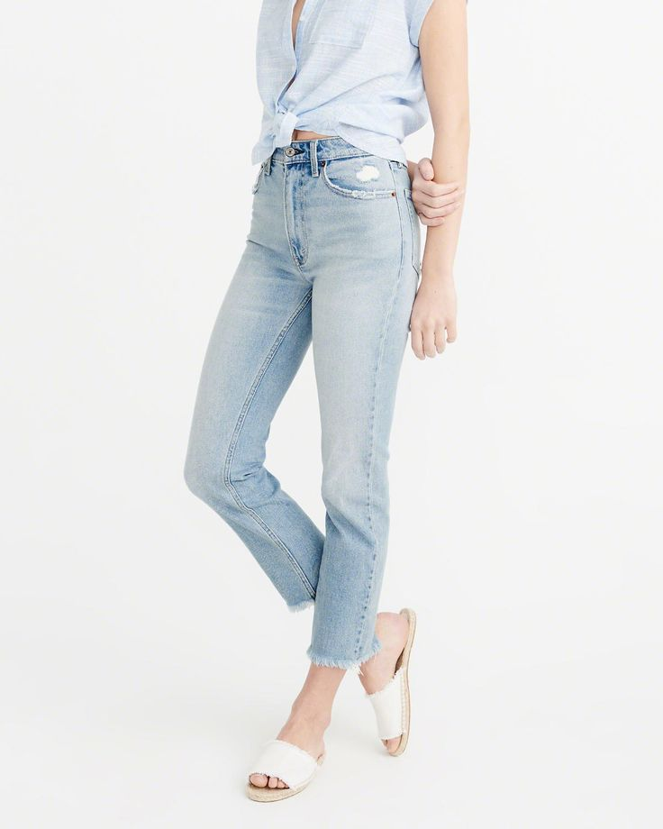 Womens Straight Jeans   Abercrombie & Fitch